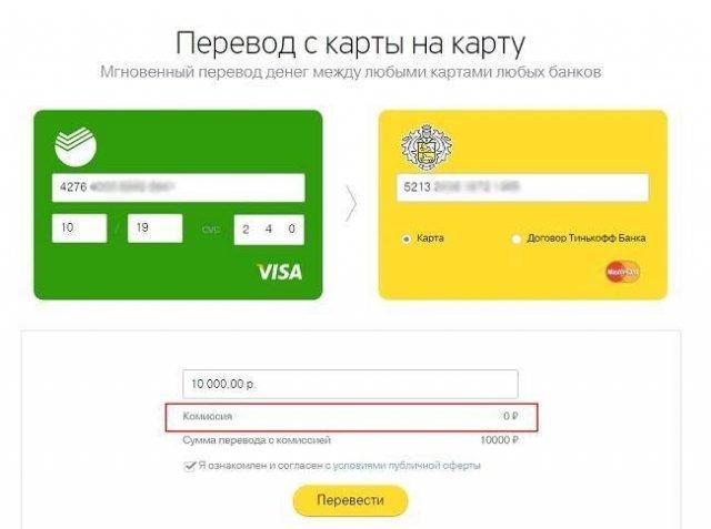 Как сделать перевод денежных средств в сбербанке