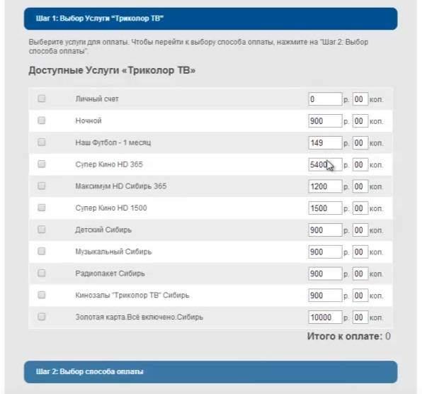 оплата картой на сайте: шаг 2