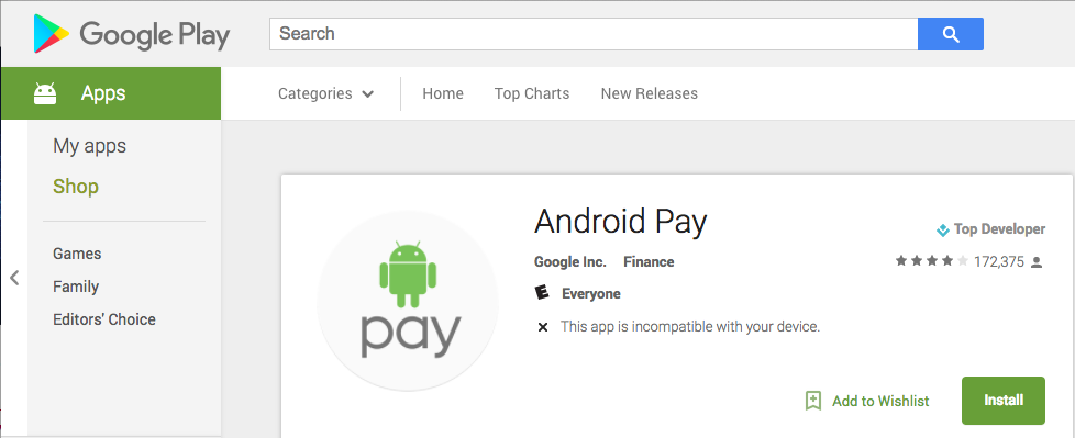 Скачивание android pay