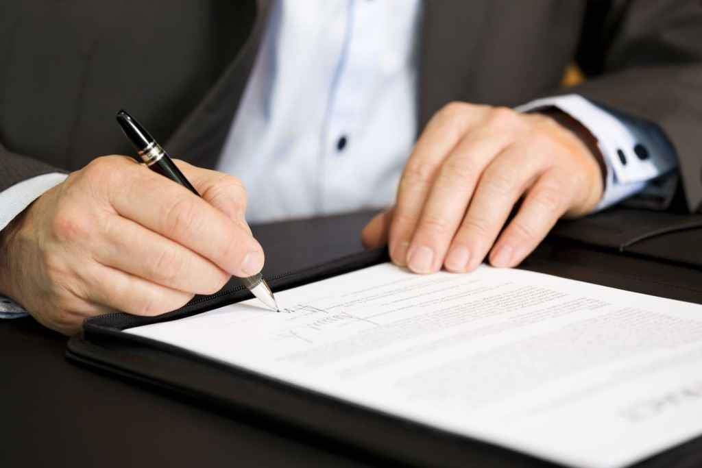 Заключить договор на открытие депозитного счета