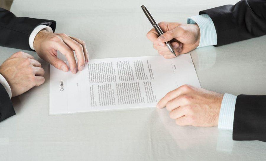 Заключить с компанией договор