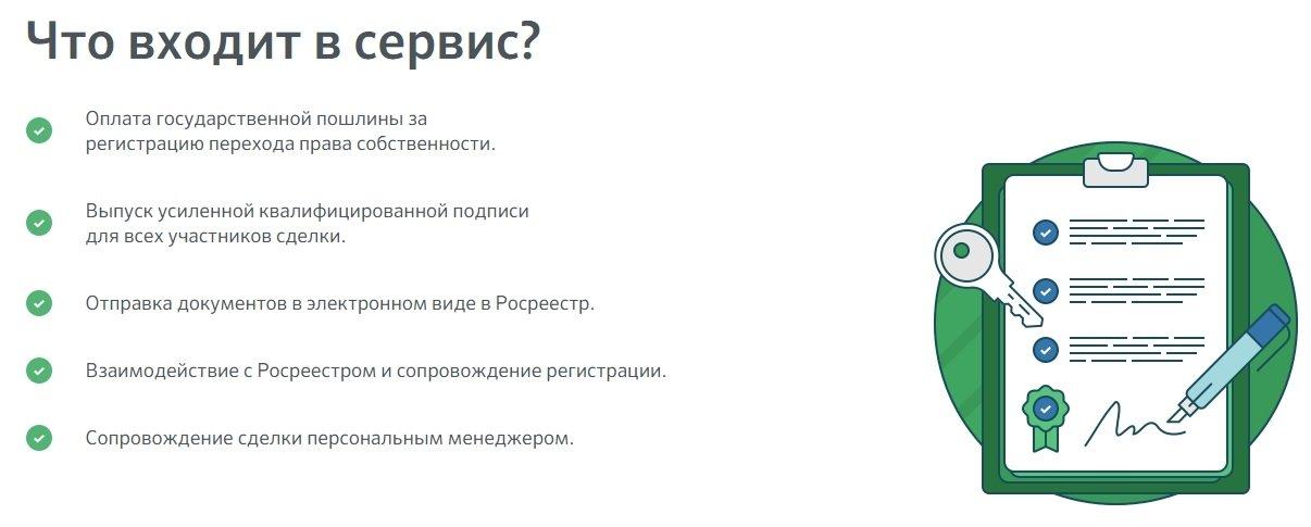 электронная регистрация сделки через Сбербанк