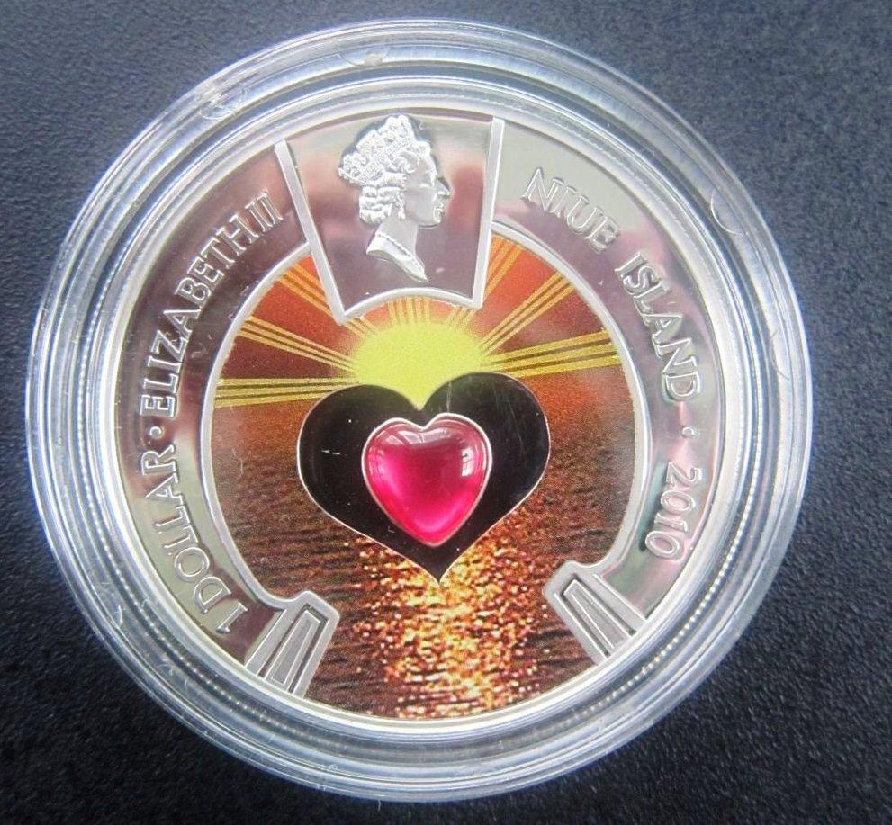 """Монета """"Море любви""""из серебра"""
