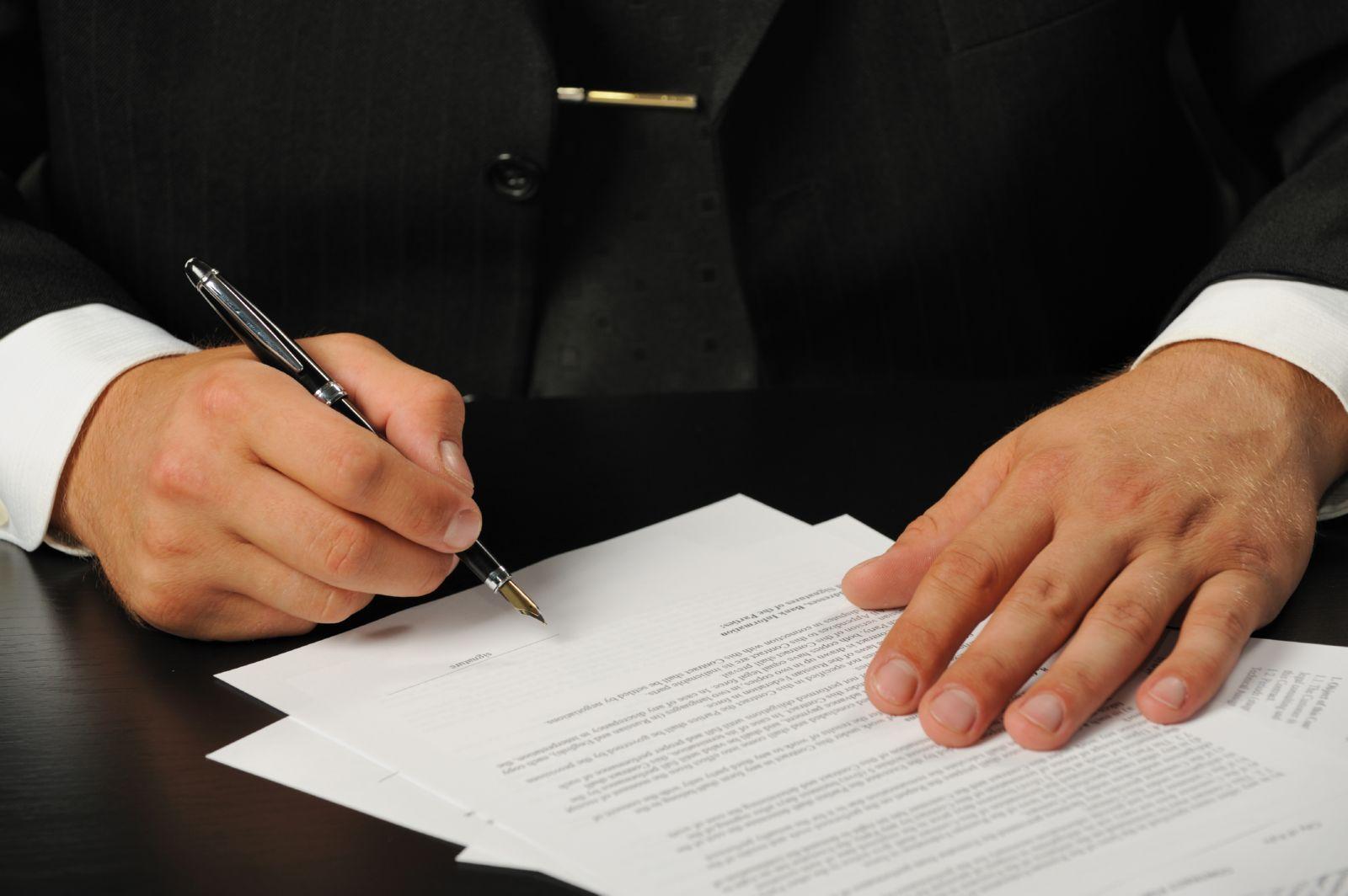 Заявление подписывает представитель банка