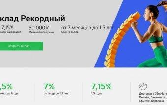 Калькулятор вклада Рекордный от Сбербанка: рассчитать доход онлайн