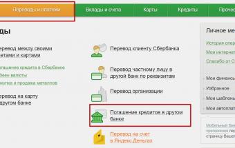 Погашение кредитов других банков через Сбербанк